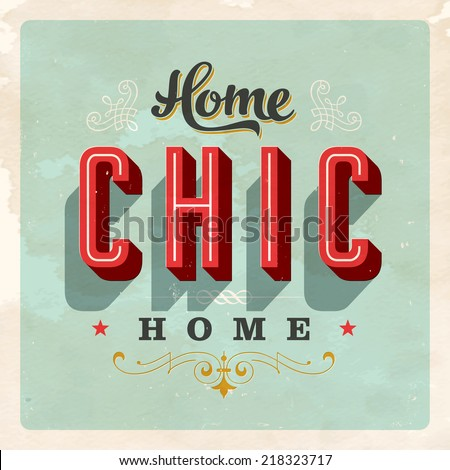 vintage home chic home card