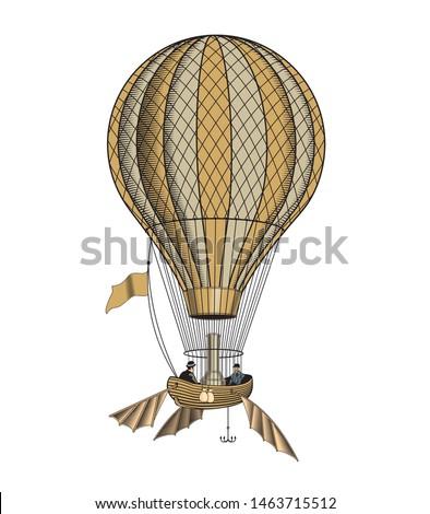 vintage hot air balloon or