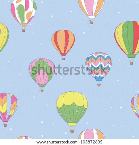 Vintage Hot Air Balloon Pattern