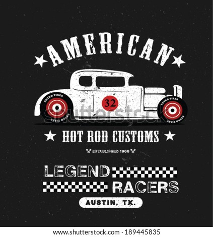 vintage hot rod car apparel