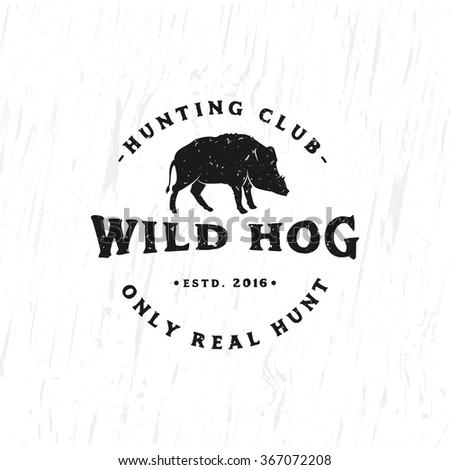 vintage hunting club emblem