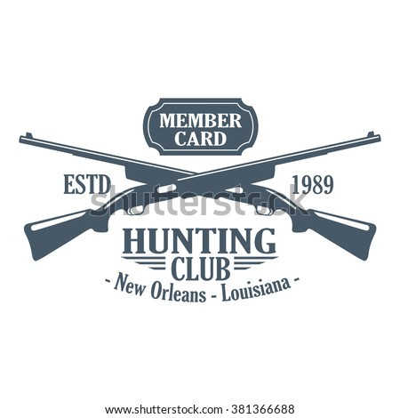 vintage hunting club label