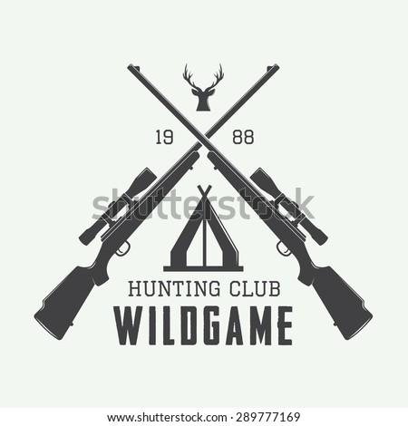 vintage hunting label  logo or