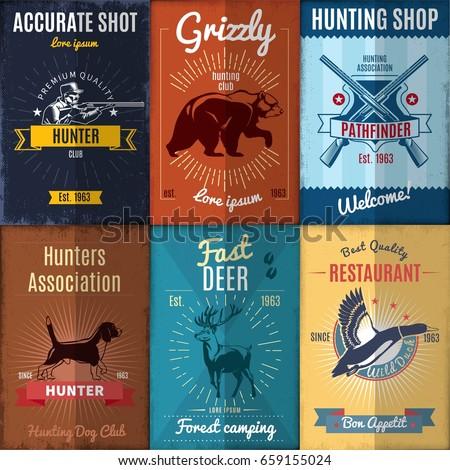 vintage hunting posters