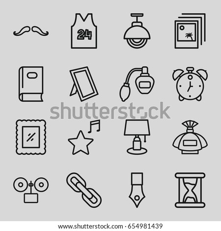 vintage icons set set of 16