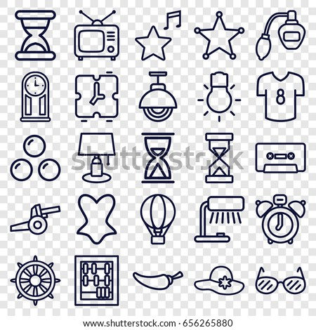 vintage icons set set of 25