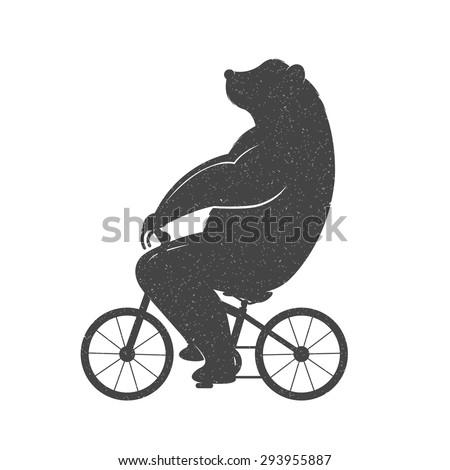 vintage illustration bear on a...