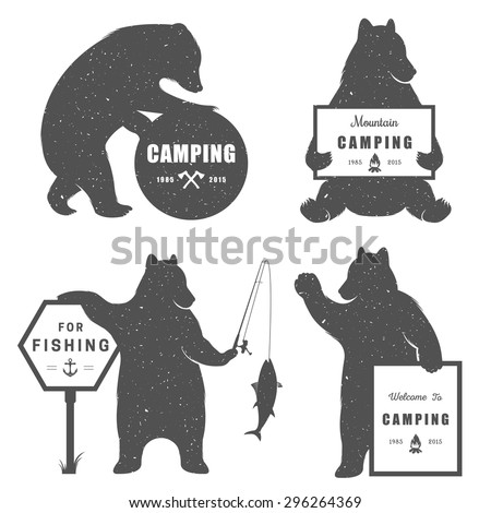 vintage illustration bear with...