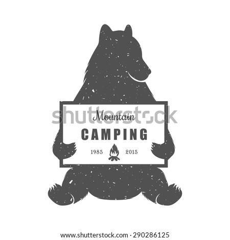 vintage illustration bear with...