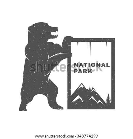 vintage illustration fun bear