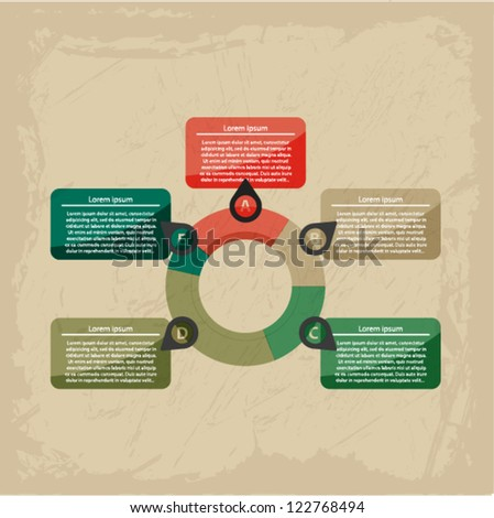 Vintage infographic template. Vector illustration EPS10