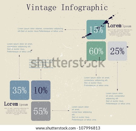 vintage infographic 2 vector