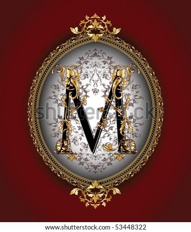 victorian letter M