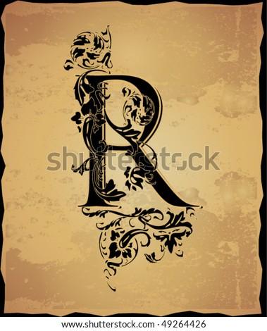 vintage initials letter pictures to pin on pinterest tattooskid. Black Bedroom Furniture Sets. Home Design Ideas