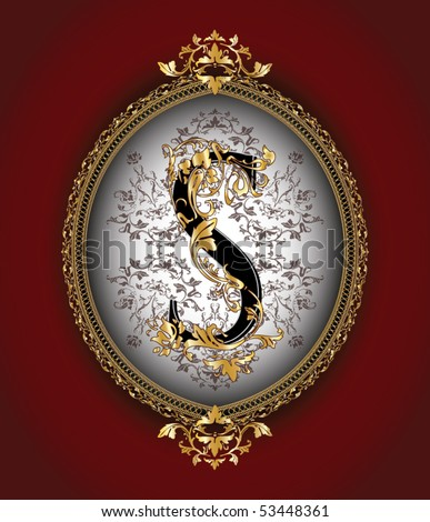 Vintage initials letter s stock vector illustration 53448361