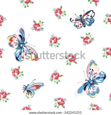 vintage inspired vector floral