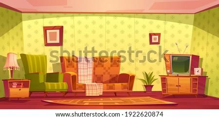 vintage interior of living room