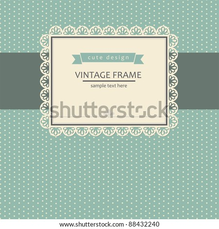 vintage invitation card design. vector illustration