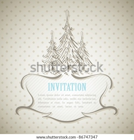 vintage invitation card. eps10