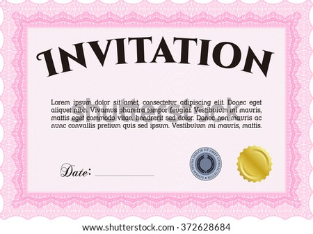 Vintage invitation. Excellent complex design. Customizable, Easy to edit and change colors.Printer friendly.