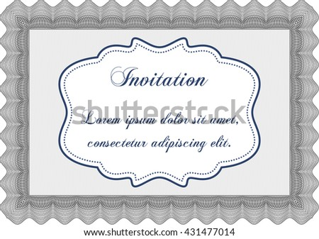 Vintage invitation. Vector illustration. Artistry design. With complex linear background.
