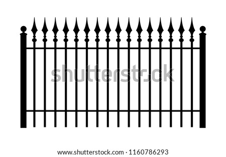 vintage iron fence with