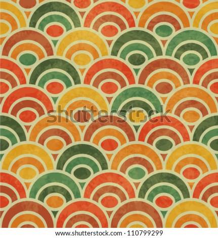 vintage japan style wave