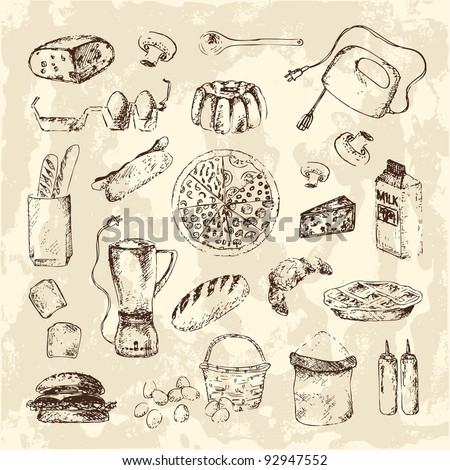 44109 Vintage Kitchen Cliparts Stock Vector And Royalty