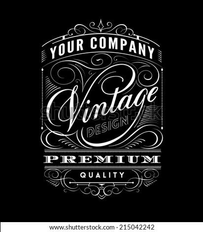 Vintage Label Design.