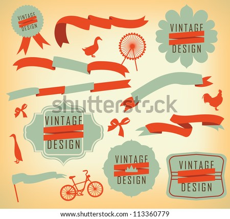vintage label design elements