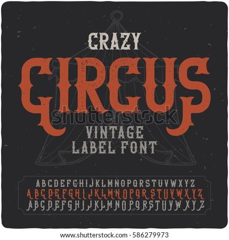 vintage label font named