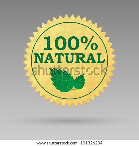 Vintage label for natural products. Vector illustration.