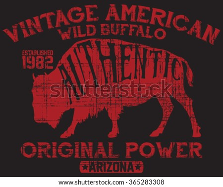 vintage label of the wild...