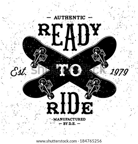 vintage label  ready to ride
