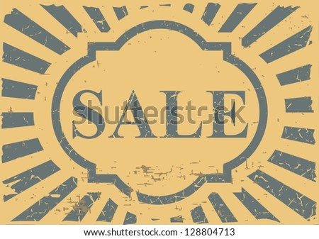 Vintage label sale - Vector. Grunge effects can be removed - stock vector
