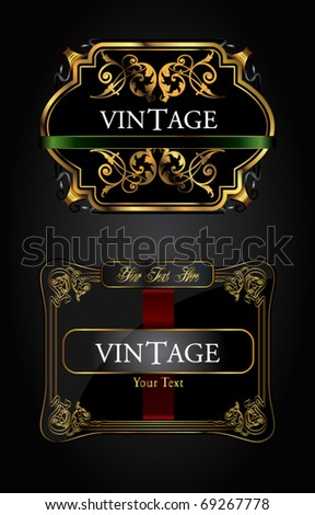 Vintage label set