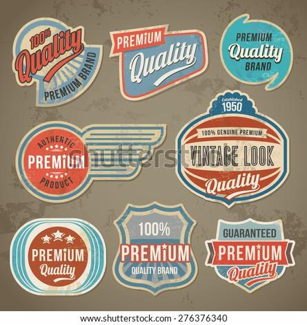 vintage label set. vector retro ...