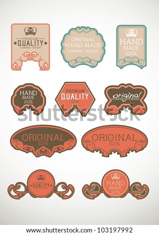 Vintage label Style with Nine Design Element , collection 29