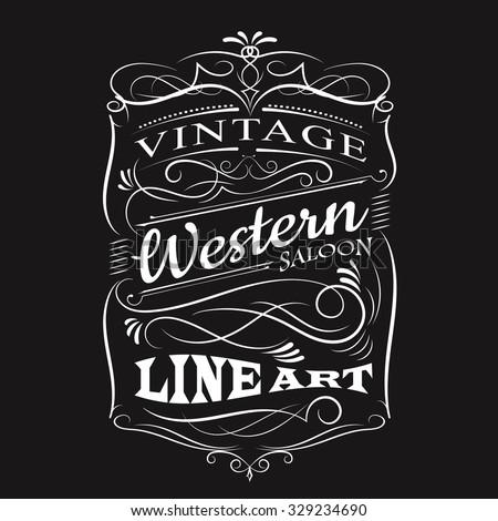 vintage label typography t