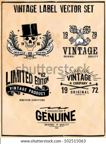 Vintage Label Vector Set