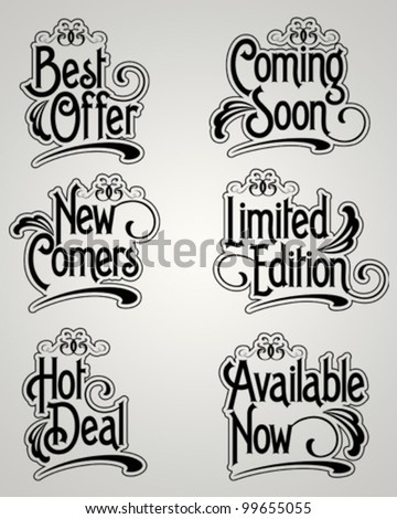 Vintage Label Vector set - stock vector