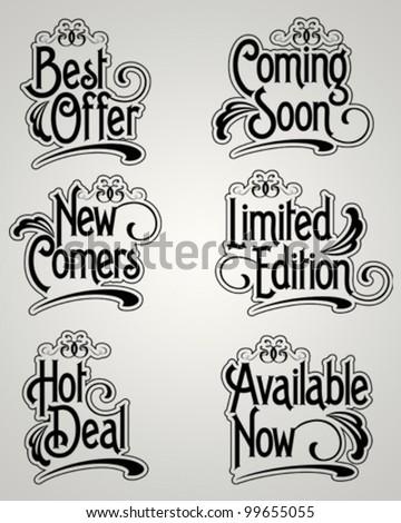 Vintage Label Vector set