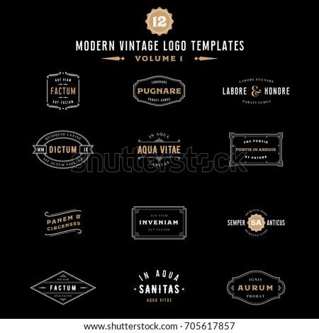 Vintage Labels and Logo Templates - Bundle Collection of Vintage Logo Designs