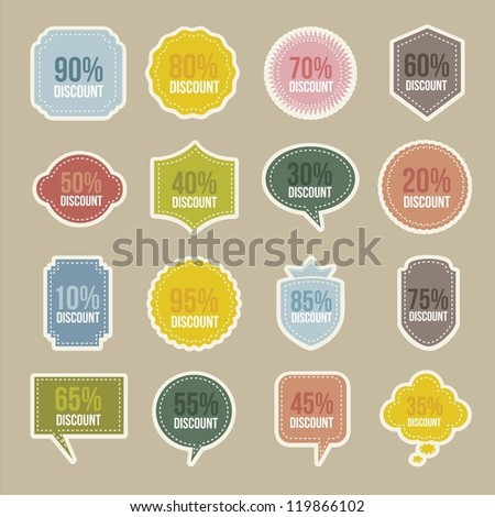 vintage labels over beige background. vector illustration