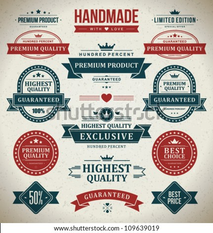 vintage labels set. vector...