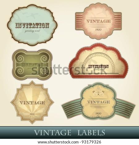 vintage labels set - vector illustration