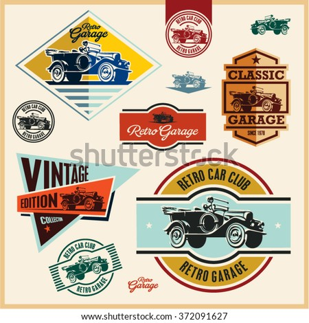 vintage labels  vintage car...