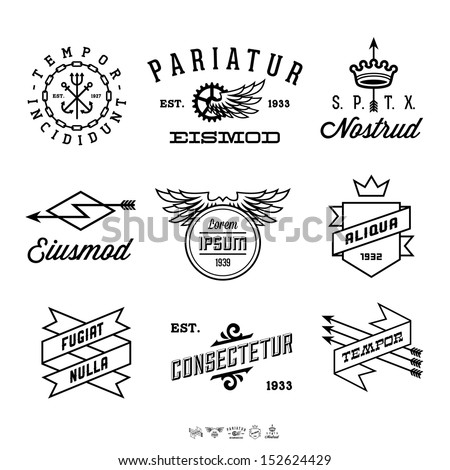 vintage labels with anchor