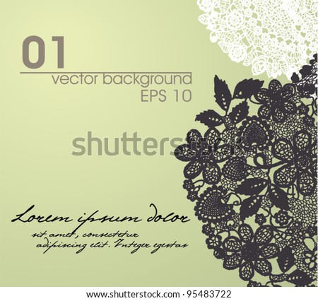 vintage lace background. EPS 10