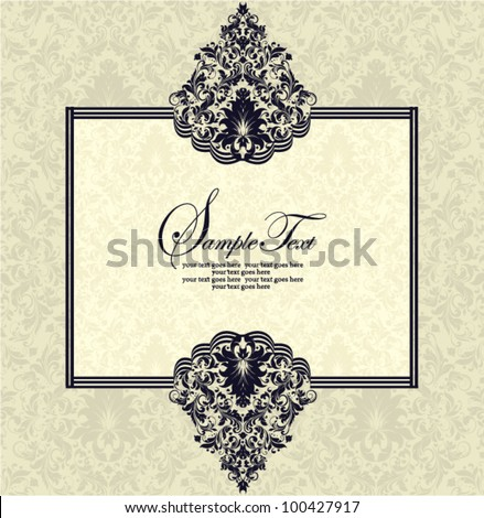 Vintage Lace & Damask Invitation